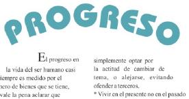 Progreso – Artículo del periódico Flash